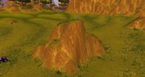 A view of the Mountain top in Nagrand