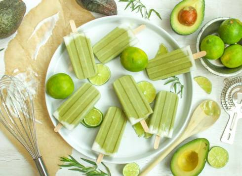 healthy homemade popsicles with avocado