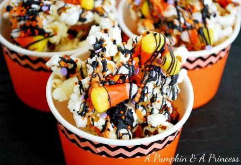 Easy and cute halloween popcorn recipe
