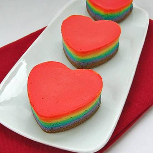 pretty rainbow recipe for the VDay