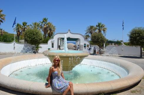 Best beaches of the Greek island Rhodes, Kallithea beach