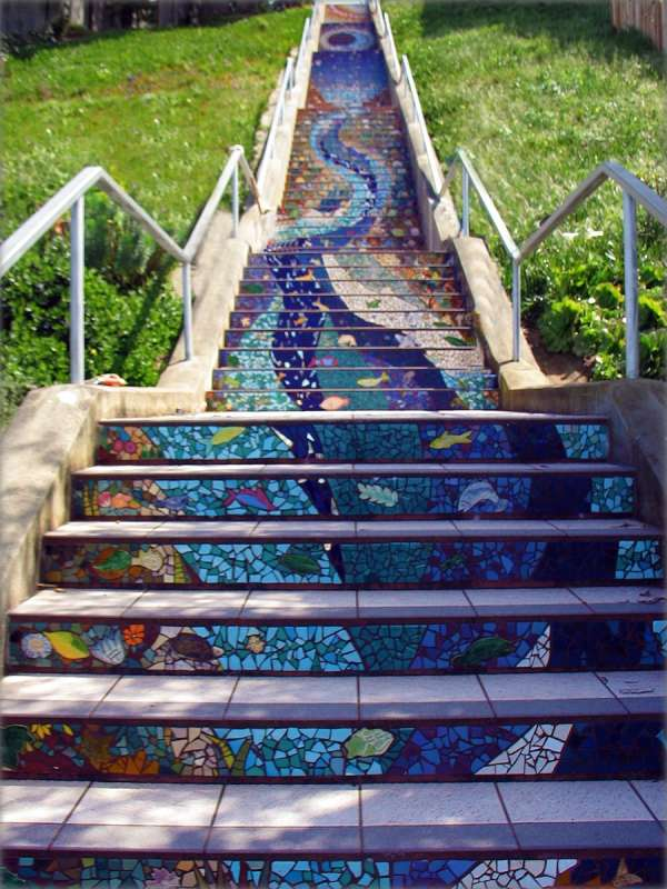 World's Most Beautiful Street Stair Art  Mocochoco