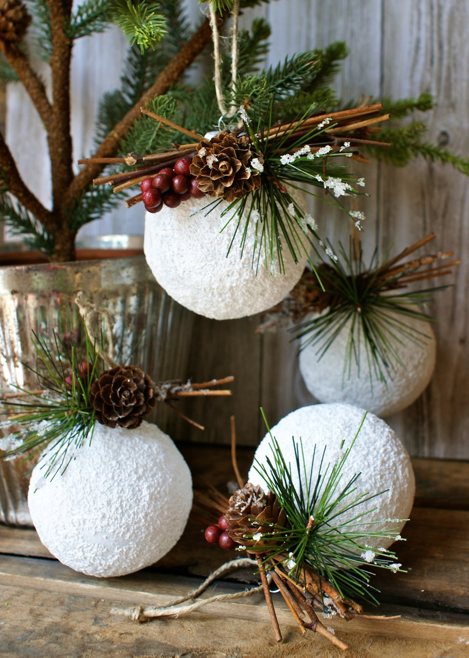 30 DIY Rustic Christmas Ornaments Ideas  mocochoco