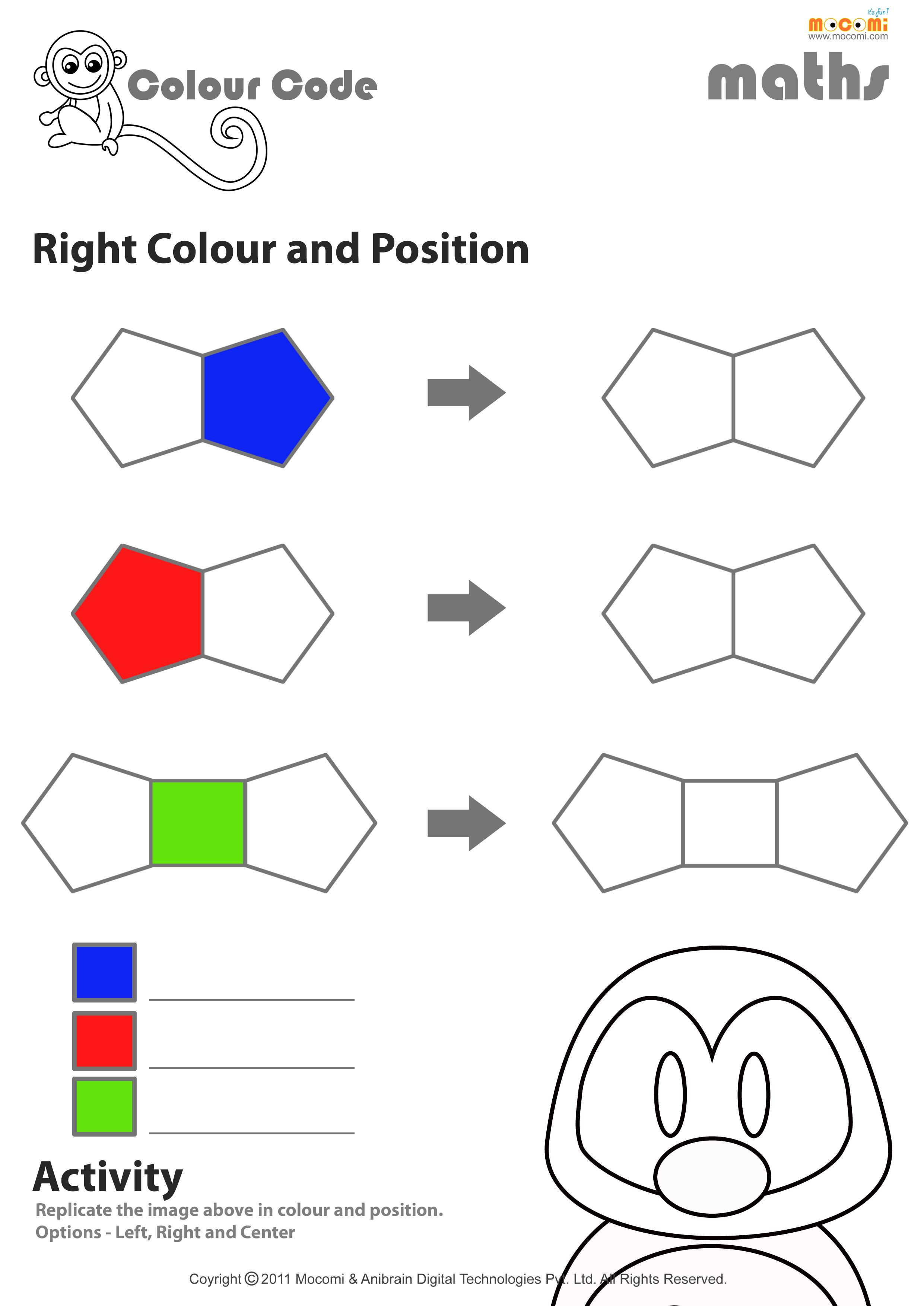 Left And Right Worksheet Preschool