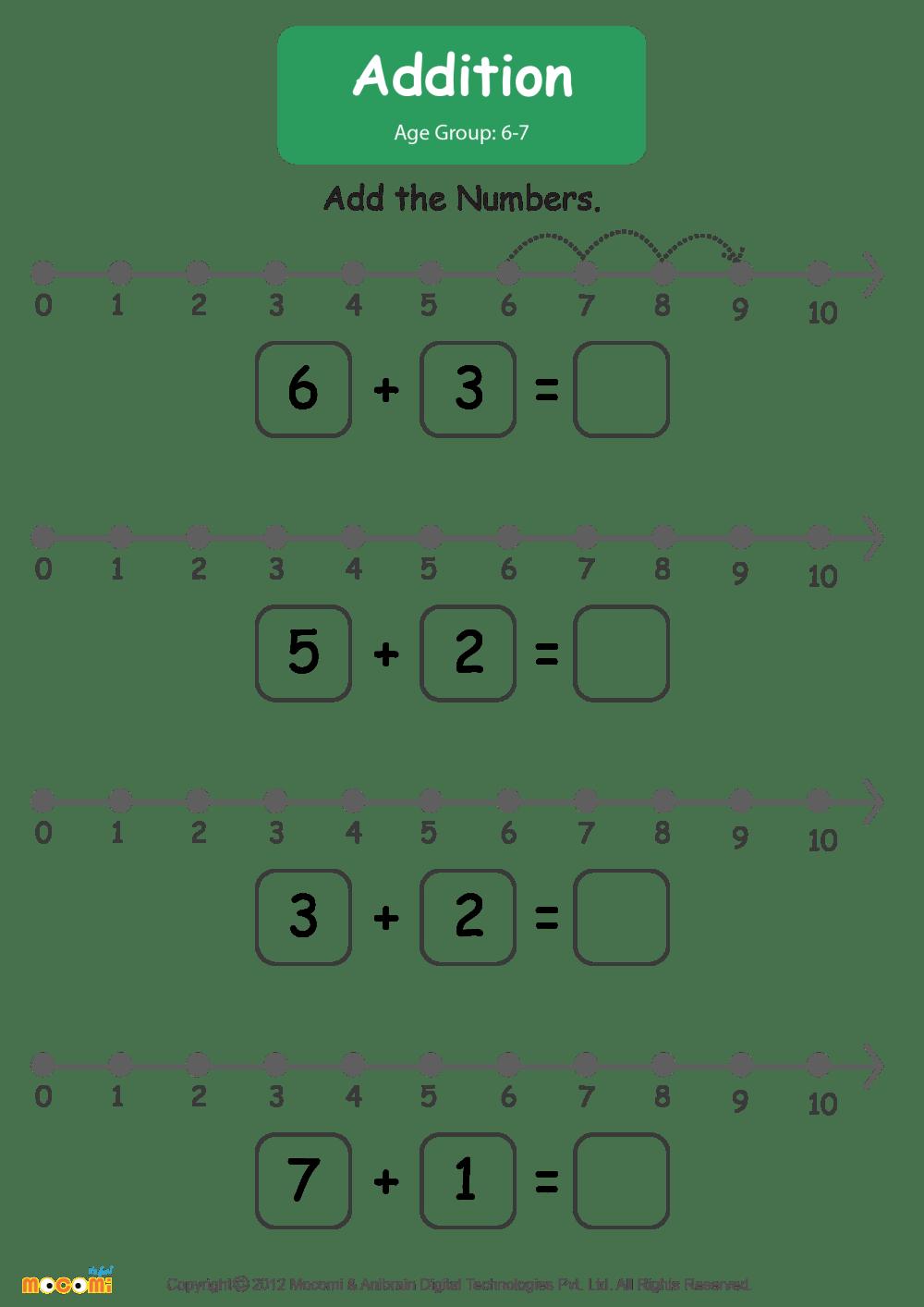 medium resolution of Addition Worksheet - Math for Kids   Mocomi