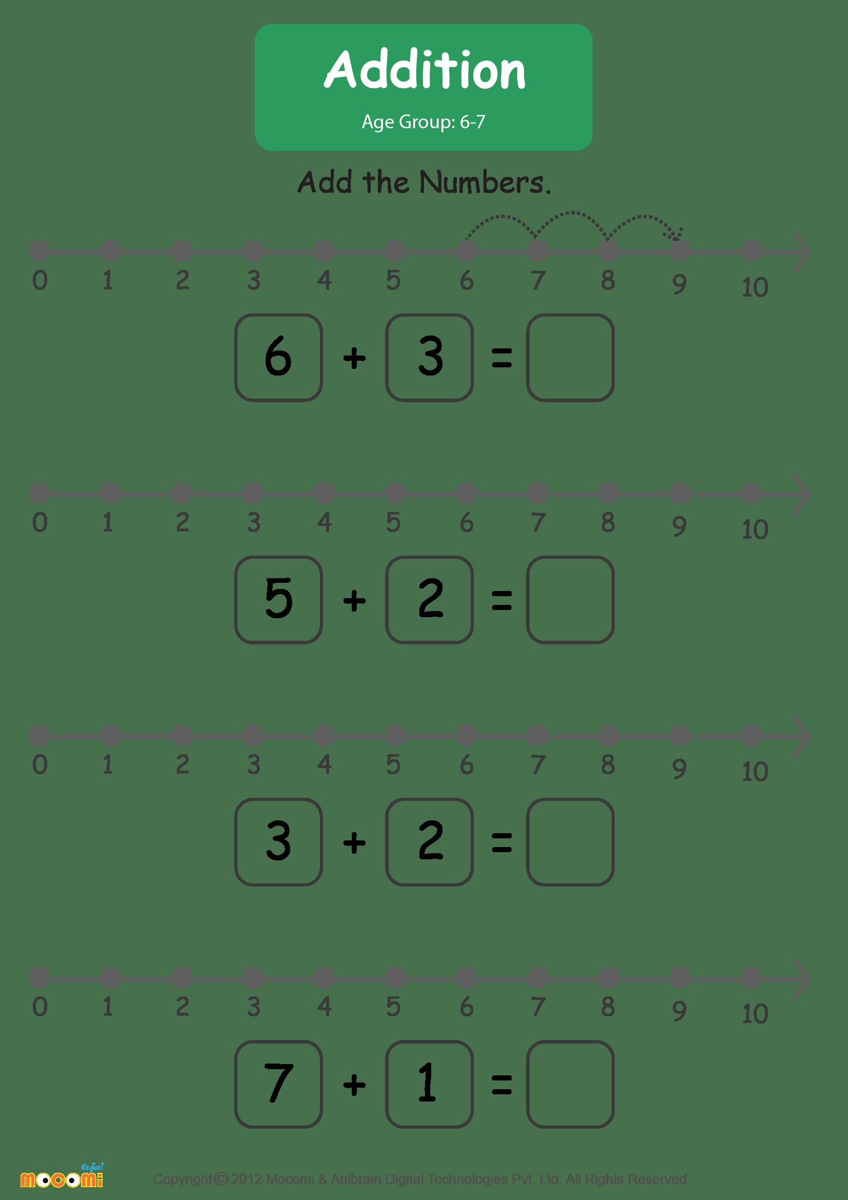 hight resolution of Addition Worksheet - Math for Kids   Mocomi
