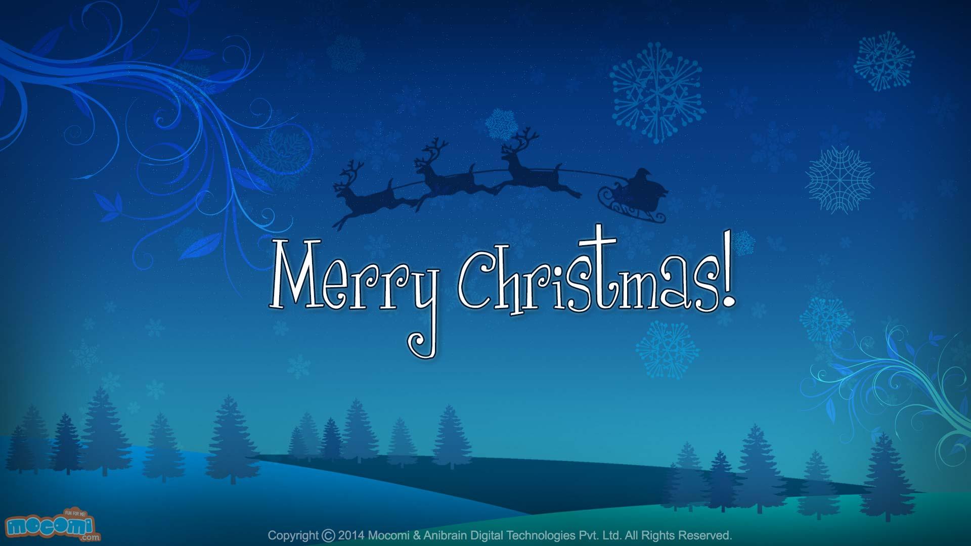 Xmas Tree Hd Wallpaper Merry Christmas Santa S Sleigh Desktop Wallpapers For
