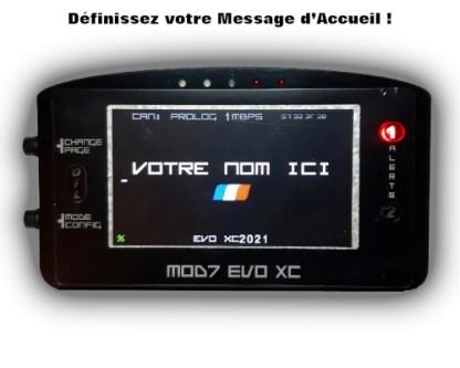 EvoXC2021 Message Accueil