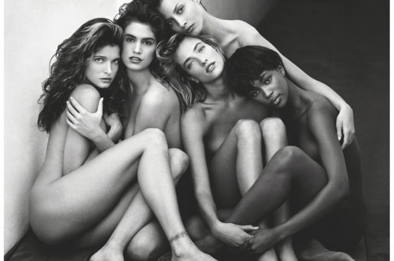Naomi Campbell Scatto alle supermodelle, Herb Ritts
