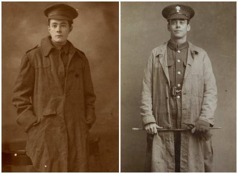Burberry Un Ufficiale Britannico indossa il trench Burberry