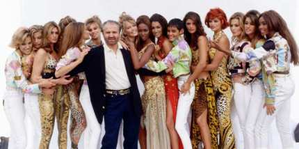 Versace Gianni Versace con le sue top-model