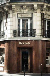Facciata della boutique Berluti di rue Marbeuf
