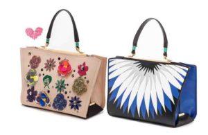 Due borse colorate della nuova collezione Veneziani
