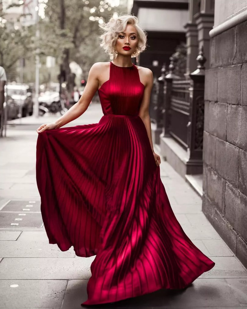 Vestidos de Madrinha 2022 - Modelo plissado