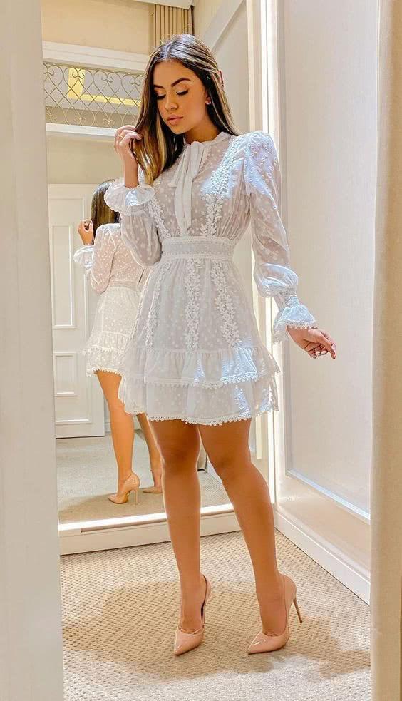 Vestidos de noiva simples Curto 2022