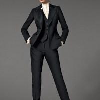 Genç bayanlar için siyah takım ebise modelleri