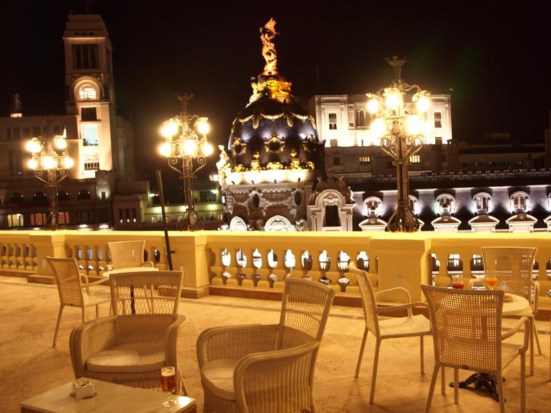 La Gran Va de Madrid en cinco terrazas elevadas