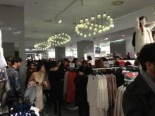 La tienda de H&M a tope