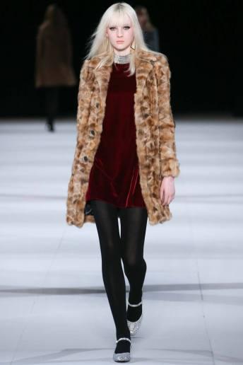 Nastya Sten - Saint Laurent Fall 2014