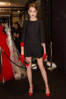 Clarice Vitkauskas - Armani Privé Fall 2014 Couture