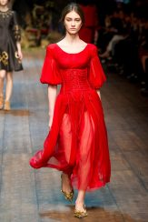 Marine Deleeuw - Dolce & Gabbana 2014 Sonbahar-Kış Koleksiyonu