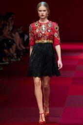 Anna Ewers - Dolce & Gabbana Spring 2015 Koleksiyonu