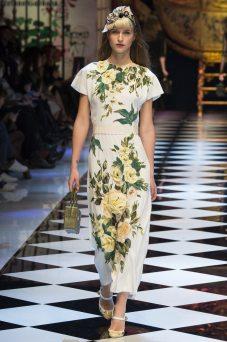 Regitze Christensen - Dolce & Gabbana Fall 2016 Ready-to-Wear