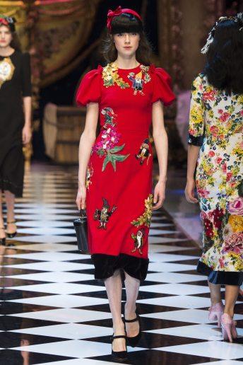 Jessica Burley - Dolce & Gabbana Fall 2016 Ready-to-Wear