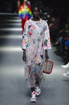 Adut Akech - Burberry Spring 2018 Ready-to-Wear