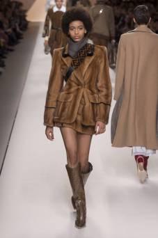 Manuela Sanchez - Fendi Fall 2018 Ready-to-Wear