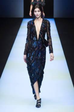 Natalia K - Giorgio Armani Fall 2018 Ready-to-Wear