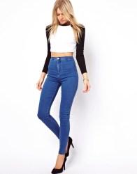 yuksek bel mavi pantolon