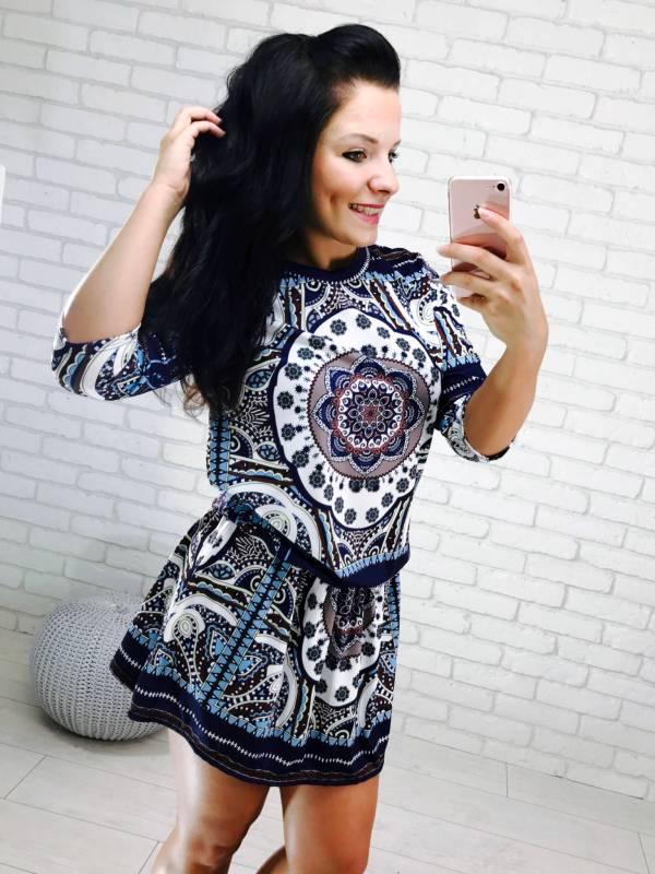 Sukienka Ooahu granatowa