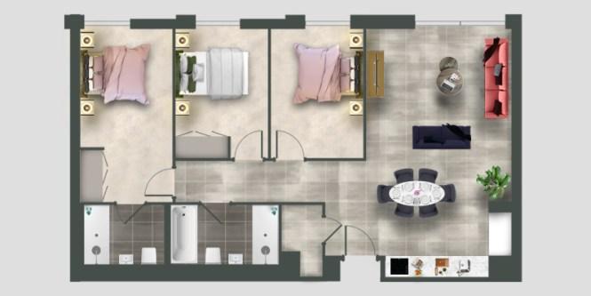 3 Bed Apartments Moda Living