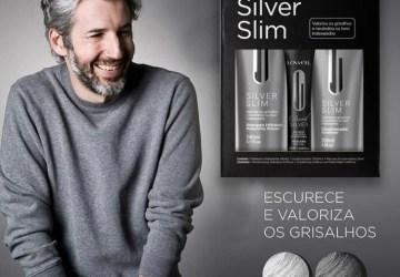Silver Slim Lowell cabelo grisalho masculino