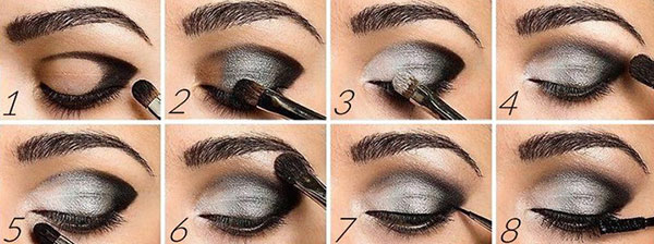 Maquillage ombres smoley yeux