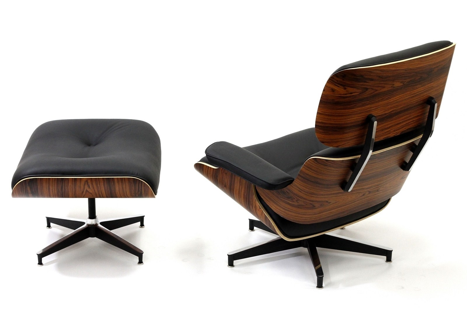 Leather Chairs With Ottoman Eames Style Lounge Chair And Ottoman Rosewood Plywood