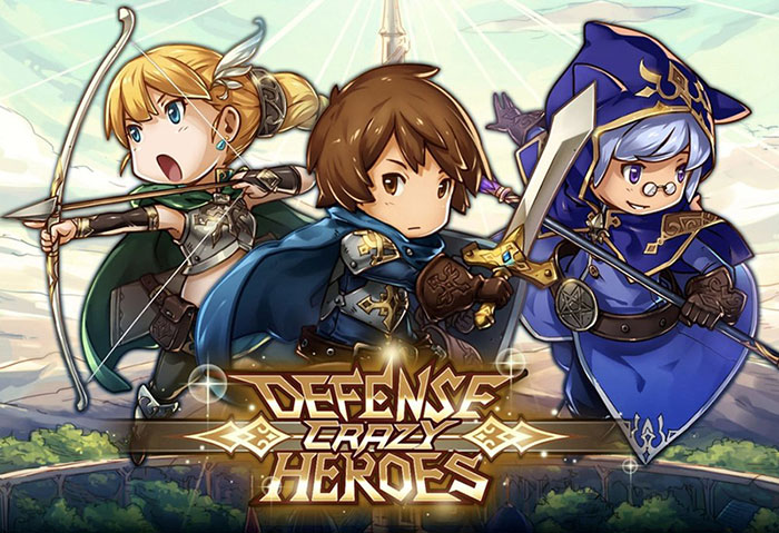 Free dowload Crazy Defense Heroes Mod APK (Unlimited Money) - Game