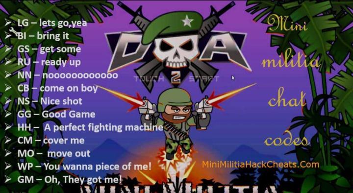 Mini MilitiaChat Commands