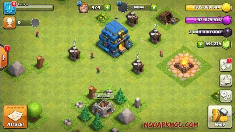 Clash of Clans Mod Apk Unlimited Gems elixir