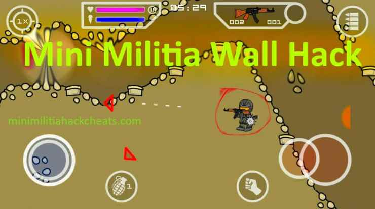 Mini Militia Wall Hack Fly Through Walls APK