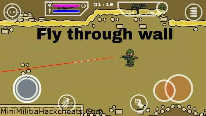 Mini Militia Wall Mod Apk + Fly Through Walls APK