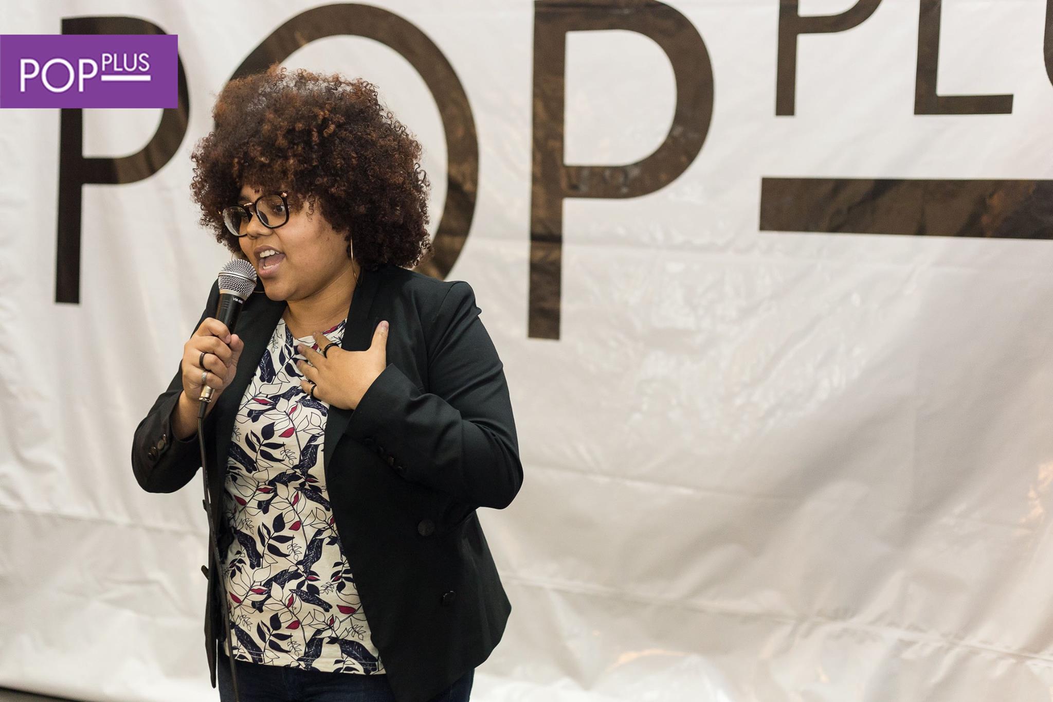 A jovem Júlia Rocha Paulino durante apresentação no Pop Plus - Foto: Robson Leandro/Equipe Pop Plus