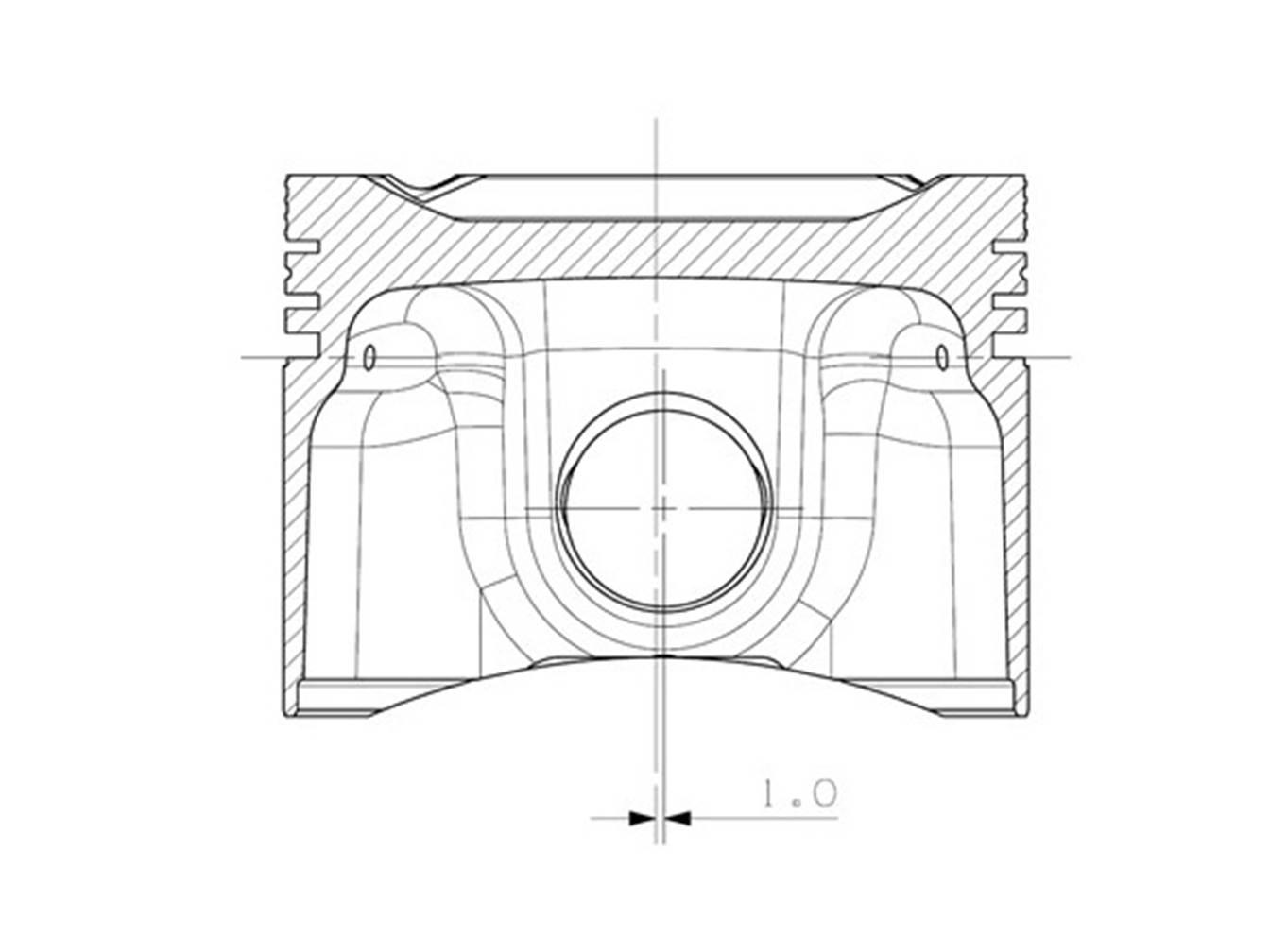 Cosworth YB Piston Drawing
