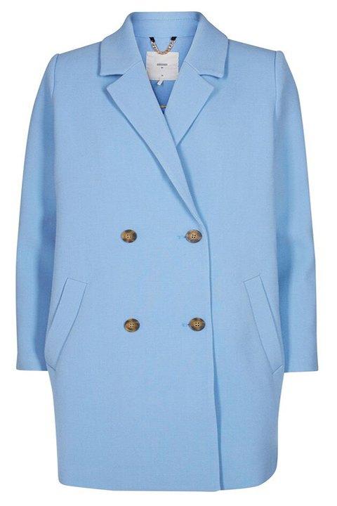 Blazer tono azul con doble botonadura de Minimum