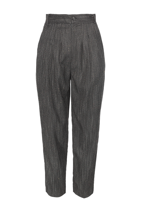 Pantalón mum fit de ROPA CHICA tejido jaspeado.