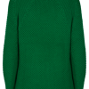 Freequent. Pullover de algodón Bobie en color verde.
