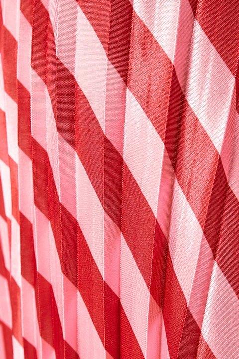 Falda Jasmine de Soaked. Detalle del tableado y colores de la falda.