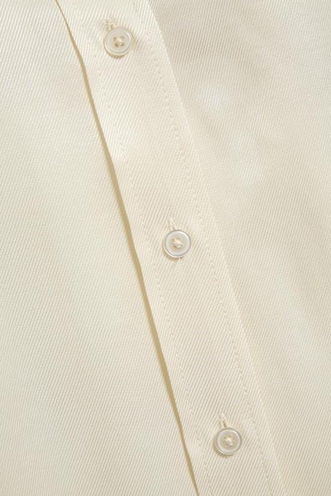 Detalle de la tela y los botones de la camisa Jeanette shirt