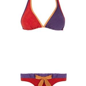Bikini tricolor efecto antelina de Guillermina Baeza.